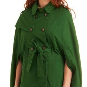 ModCloth Green Cape
